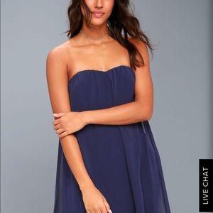 NWT Lulus flowy overlay dress